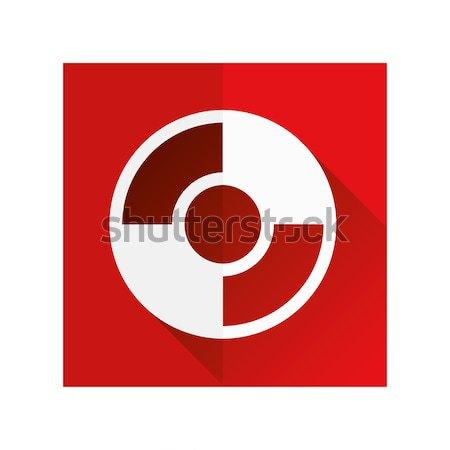 Redding cirkel icon zee ontwerp boot Stockfoto © glorcza