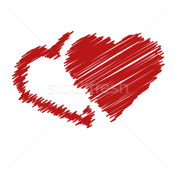 handwriting hearts Stock photo © glorcza