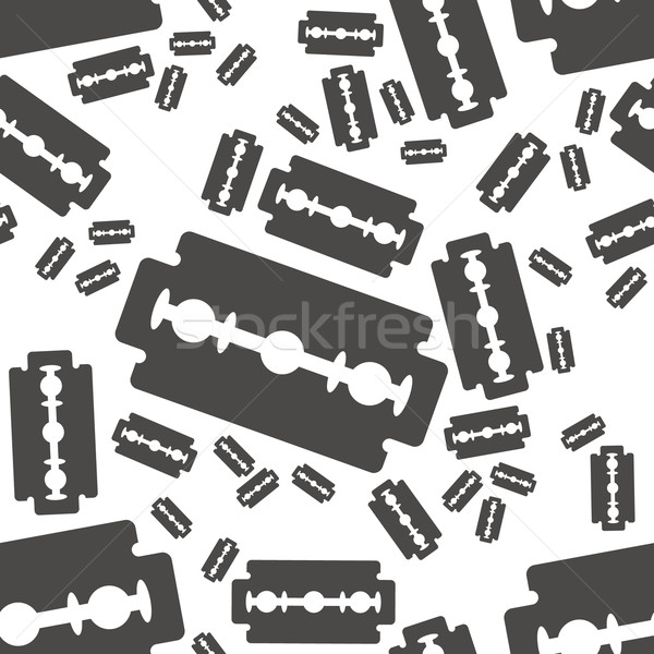 razor blade seamless pattern Stock photo © glorcza