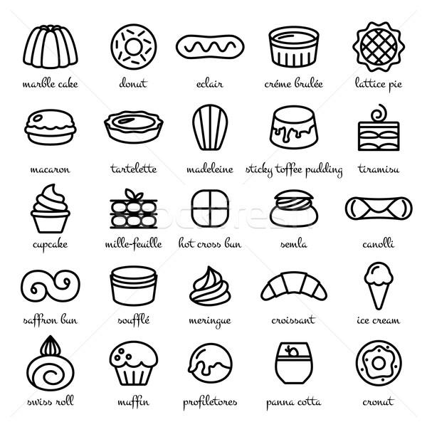 Stockfoto: Lijn · wereld · best · desserts · snoep