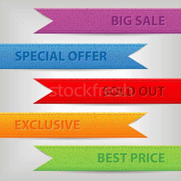 Szett szalagok papír terv vásárlás narancs Stock fotó © glorcza