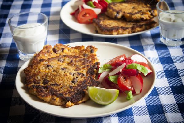 メキシコ料理 豆 パンケーキ 野菜 ストックフォト © glorcza