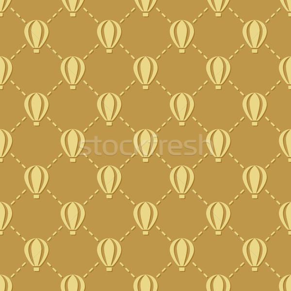 hot-air balloon seamless pattern Stock photo © glorcza