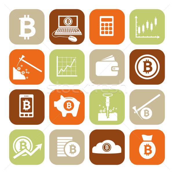 bitcoin icons Stock photo © glorcza