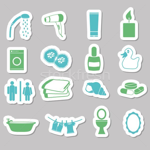 bathroom stickers Stock photo © glorcza