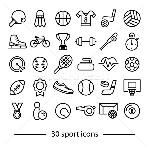 collection of sport line icons Stock photo © glorcza