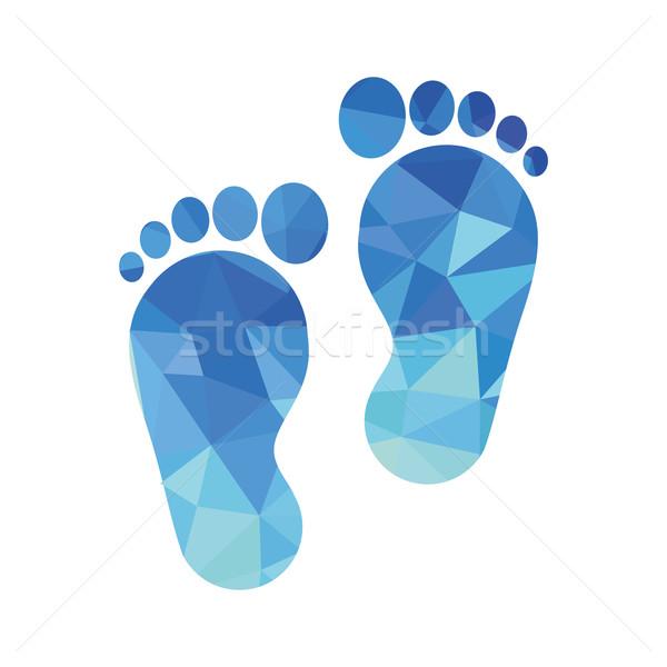 sole of the foot icon Stock photo © glorcza