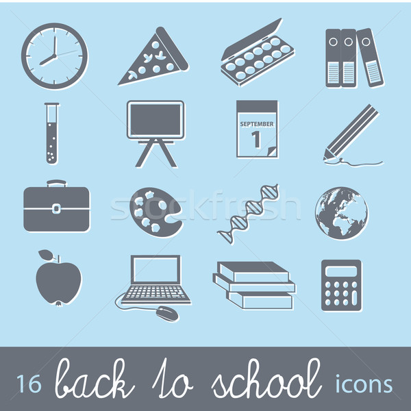 back to school icons Stock photo © glorcza