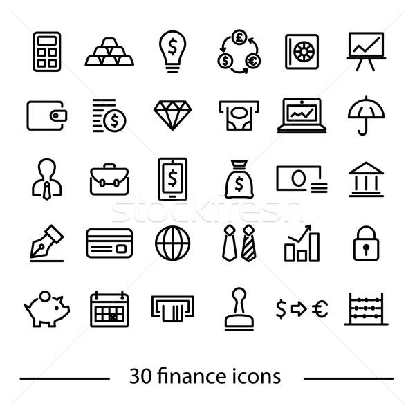 Stockfoto: Financieren · iconen · computer · werk · ontwerp · kalender