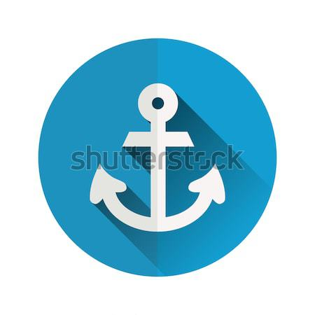 Anker icon zee ontwerp boot schip Stockfoto © glorcza