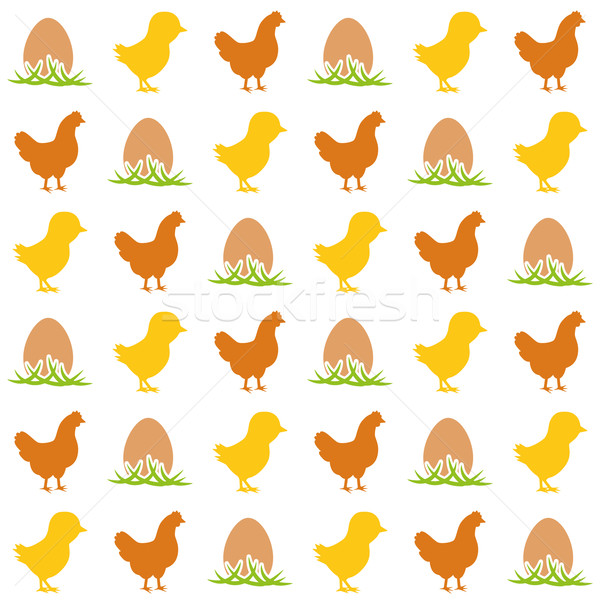 яйцо куриные курица весны продовольствие Сток-фото © glorcza