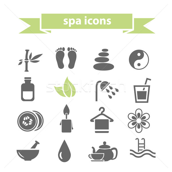 spa icons Stock photo © glorcza