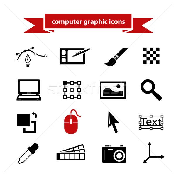 computer graphic icons Stock photo © glorcza