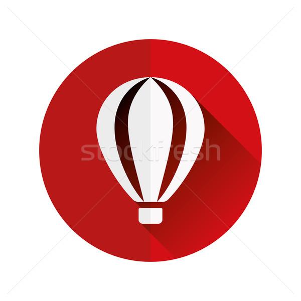hot-air balloon flat icon Stock photo © glorcza