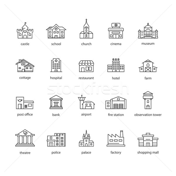 collection of touristic icons Stock photo © glorcza