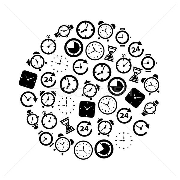 time icons in circle Stock photo © glorcza