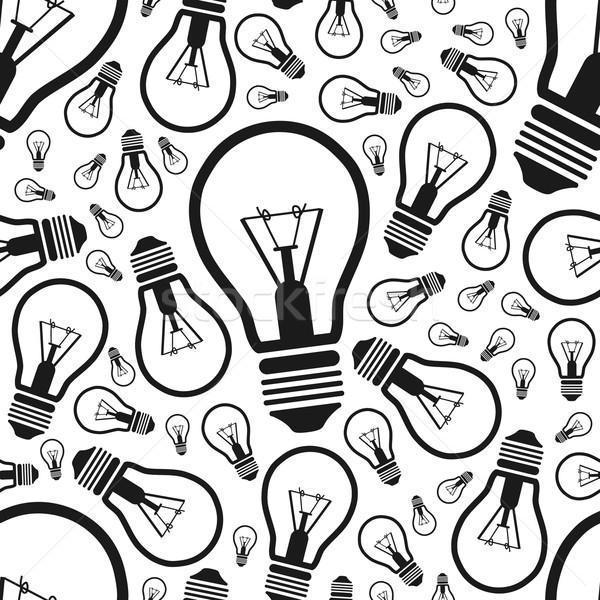 lightbulb seamless pattern Stock photo © glorcza