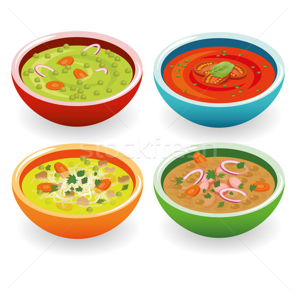 four soup Stock photo © glorcza