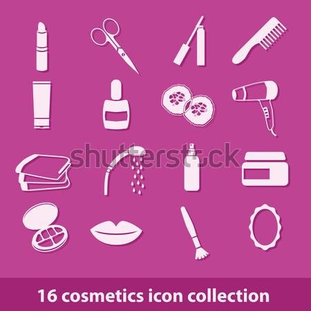 Apteka ikona 16 ikona kolekcja oka Zdjęcia stock © glorcza