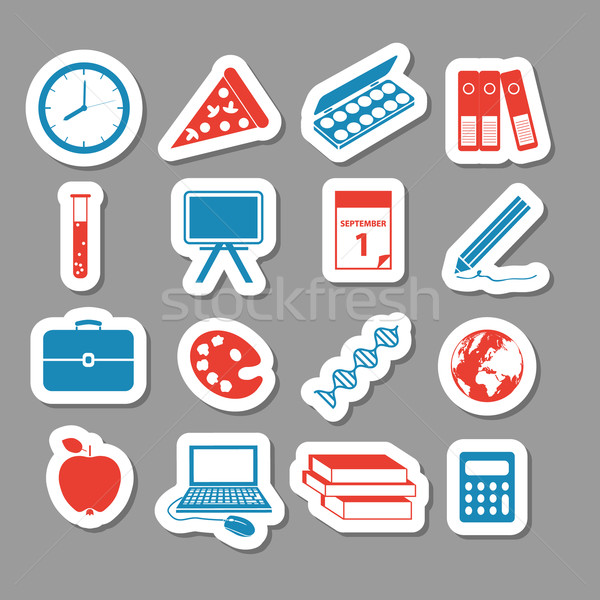 back to school stickers Stock photo © glorcza