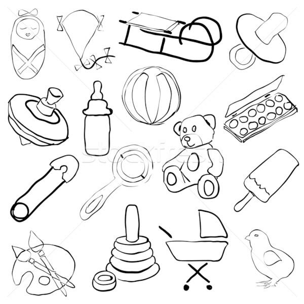doodle baby pictures Stock photo © glorcza