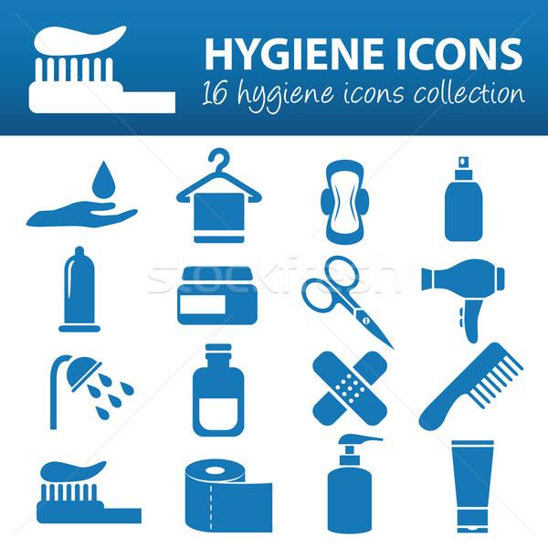 hygiene icons Stock photo © glorcza