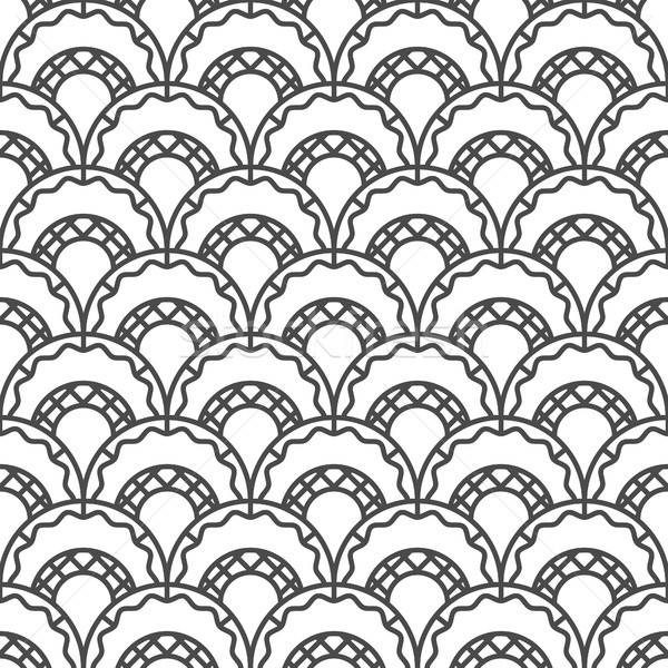 retro arc seamless pattern Stock photo © glorcza