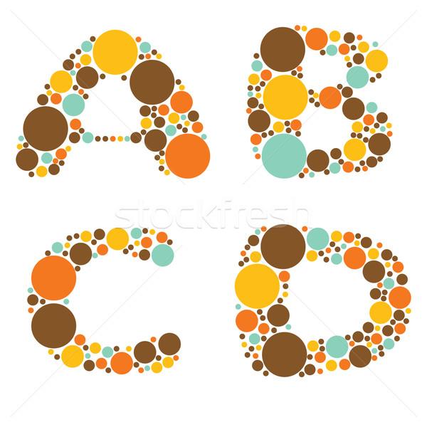 Alfabeto uno libro design arancione divertimento Foto d'archivio © glorcza