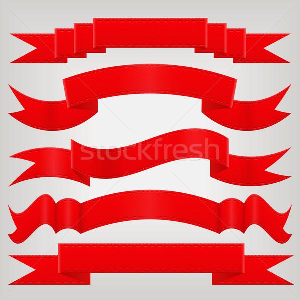 Conjunto vermelho papel projeto bandeira Foto stock © glorcza