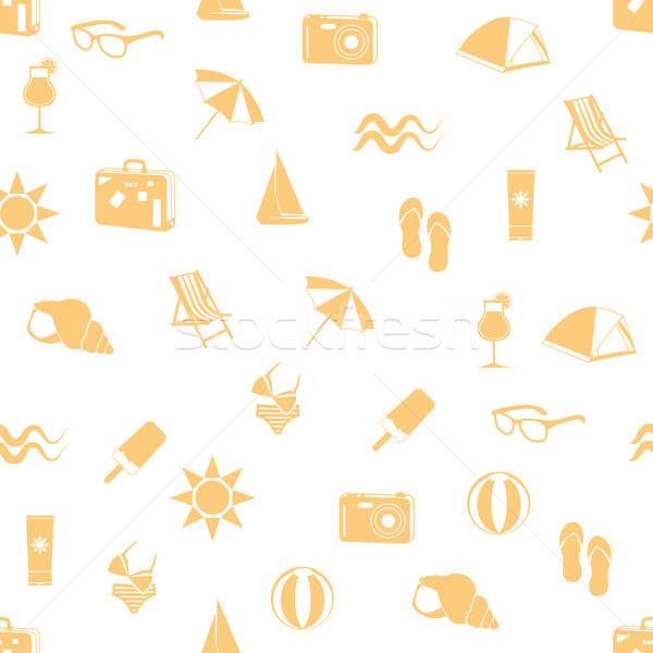 summer seamless pattern Stock photo © glorcza