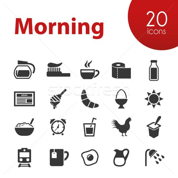 morning icons Stock photo © glorcza
