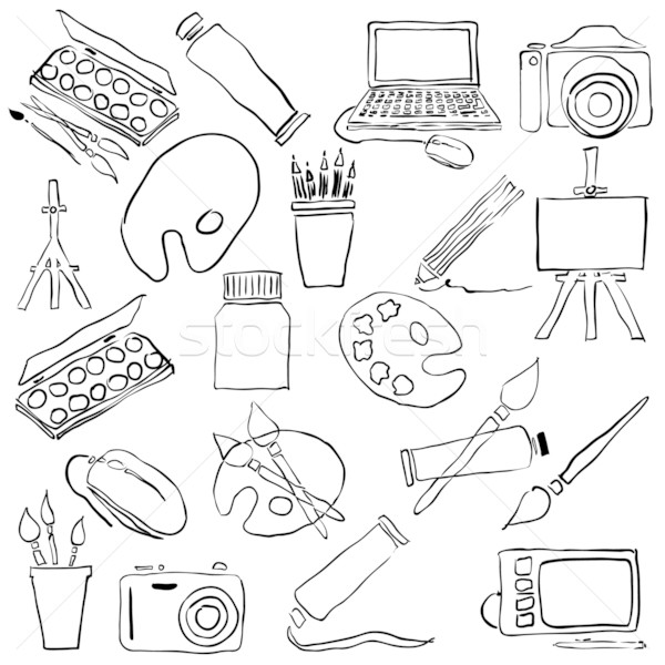 doodle art Stock photo © glorcza