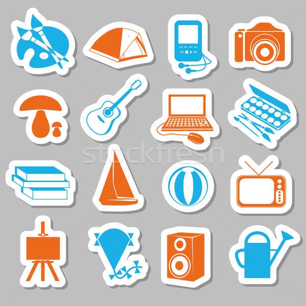 hobby stickers Stock photo © glorcza