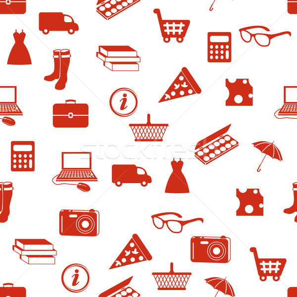 shopping seamless pattern Stock photo © glorcza
