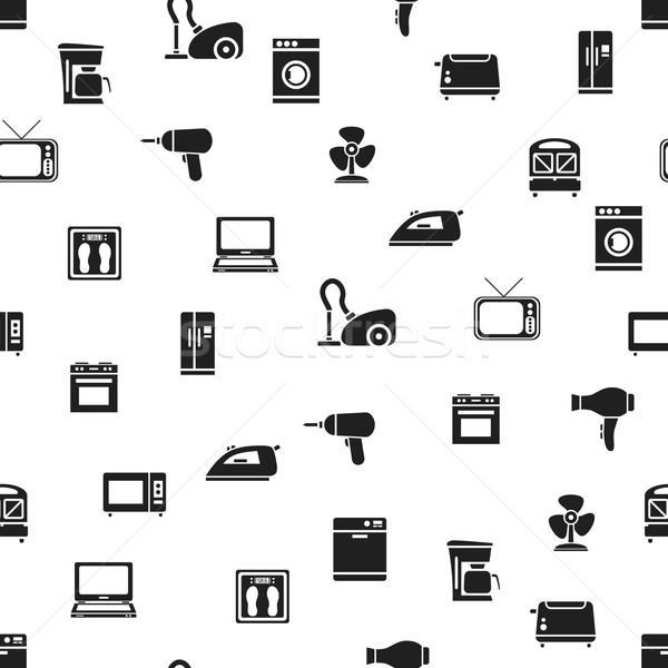 home appliance seamless pattern Stock photo © glorcza