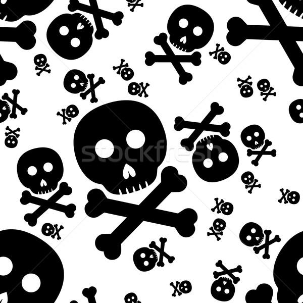 skull and crossbones seamless pattern Stock photo © glorcza