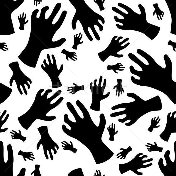 zombie hand seamless pattern Stock photo © glorcza