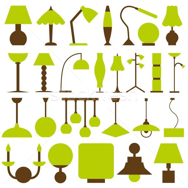 lamp icons Stock photo © glorcza