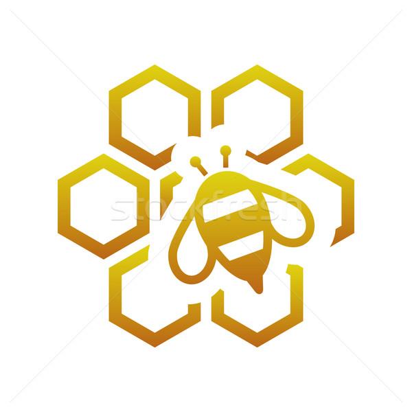 bee with comb Stock photo © glorcza