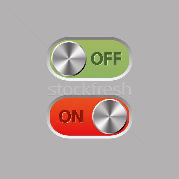 Düğmeler Internet web yeşil kırmızı Stok fotoğraf © glorcza