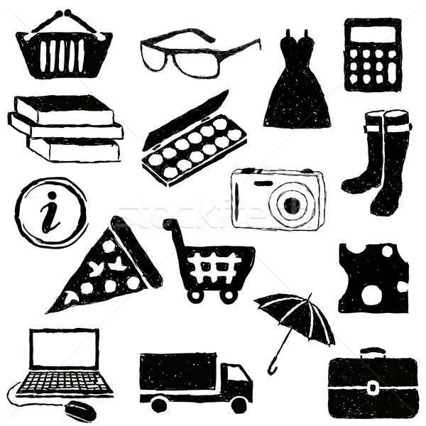 doodle shopping pictures Stock photo © glorcza