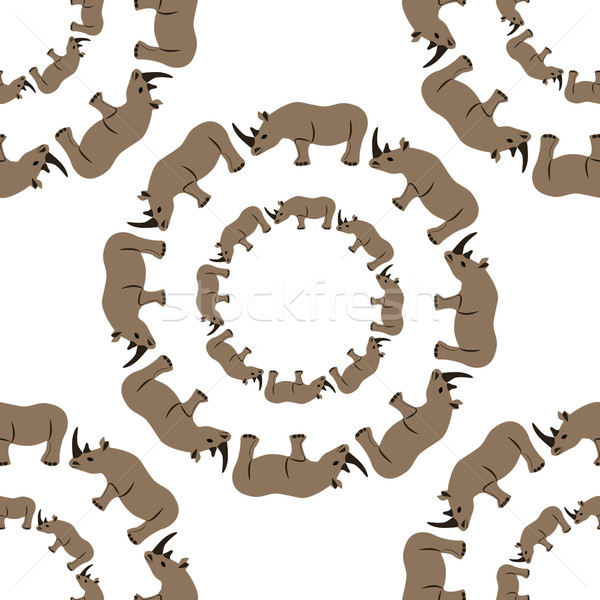 seamless rhino pattern Stock photo © glorcza