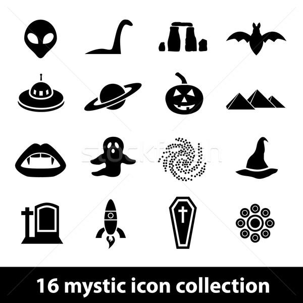 мистик иконки дизайна пространстве информации графических Сток-фото © glorcza