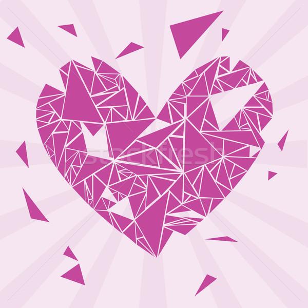 Violett defekt Valentinsdag Herz Hochzeit Stock foto © glorcza