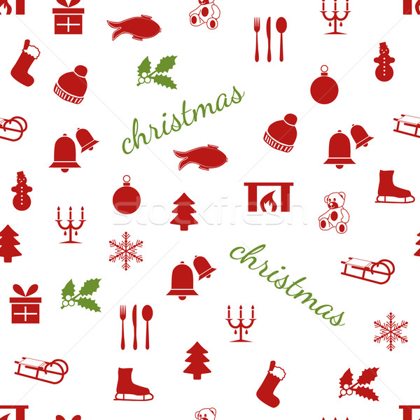 seamless christmas pattern Stock photo © glorcza