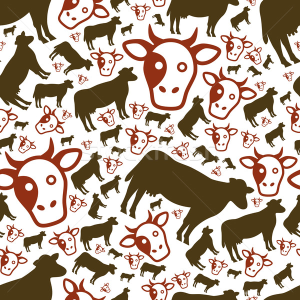 cow seamless pattern Stock photo © glorcza