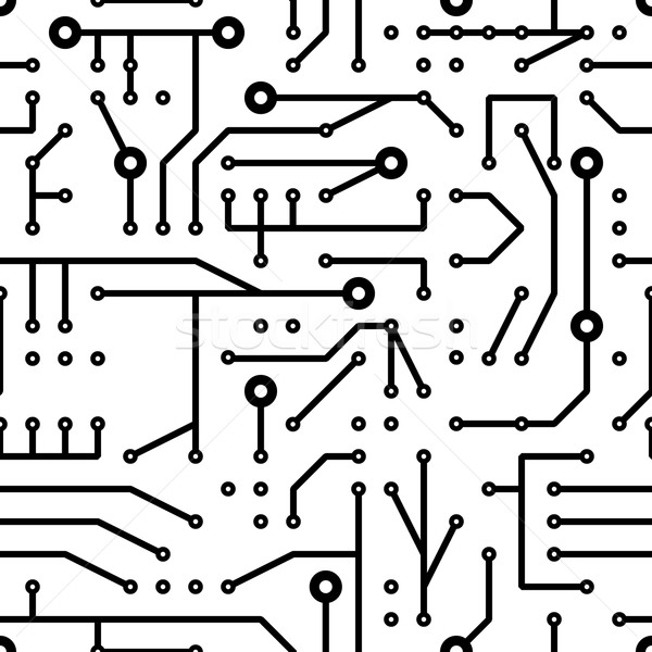 printed circuit seamless pattern Stock photo © glorcza