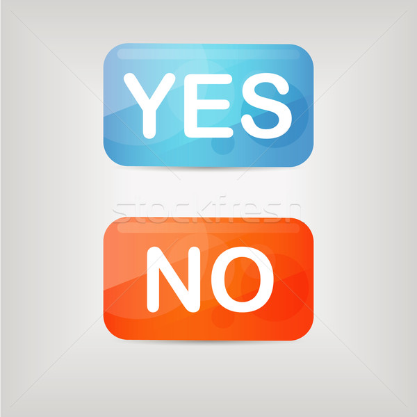 yes and no buttons Stock photo © glorcza