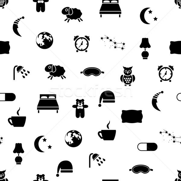 sleep seamless pattern Stock photo © glorcza