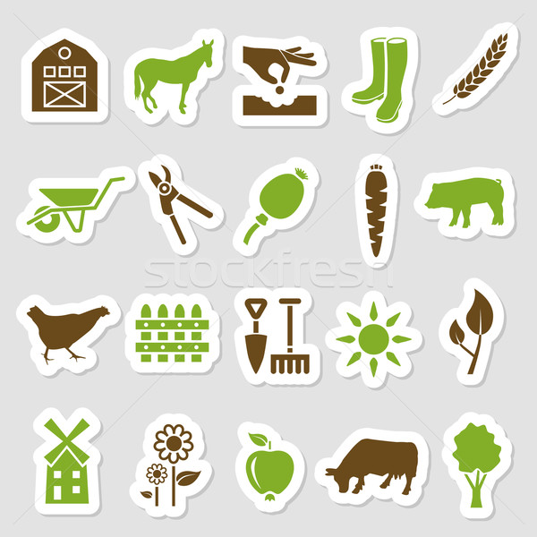 farm stickers Stock photo © glorcza